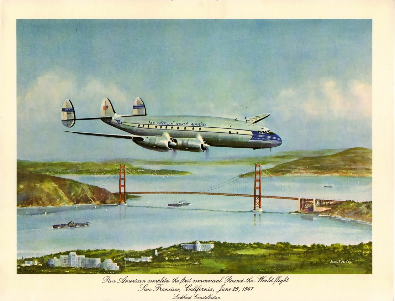 Постер Pan American World Airways - Американские мировые авиалинии