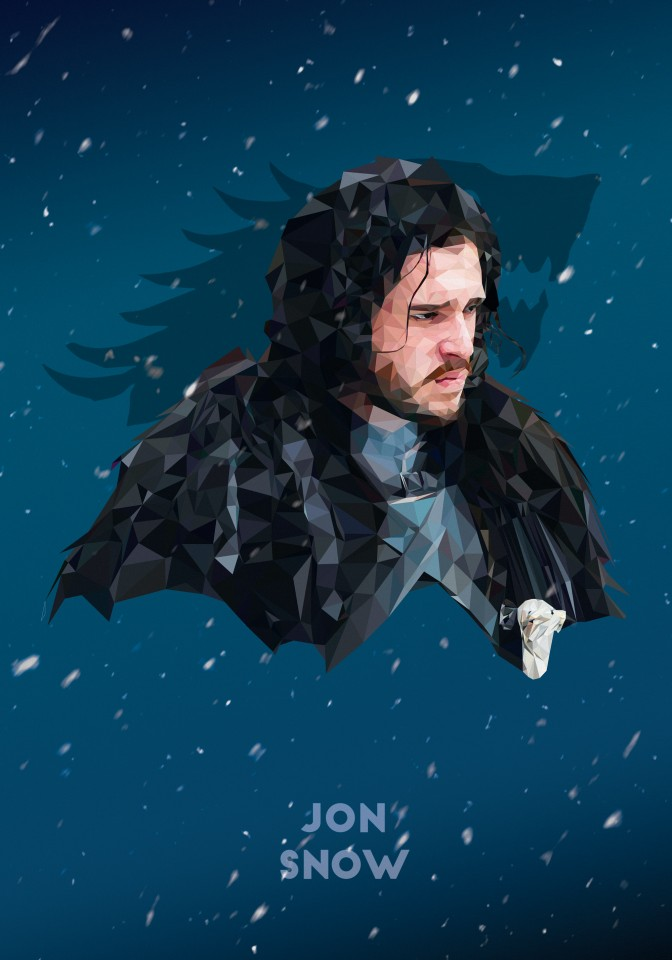 Постер Game of Thrones - Jon Snow - Игра Престолов - Джон Сноу