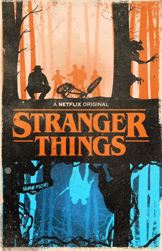 Постер Stranger things - Очень странные дела