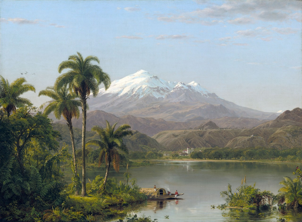Постер Frederic Edwin Church - Tamaca Palms - Фредерик Эдвин Черч -  Тамака Пальмы