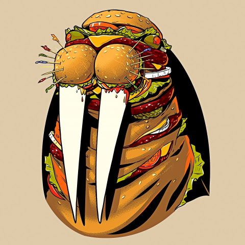 Hamburger walrus