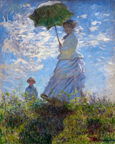 A woman with a parasol - Claude Monet