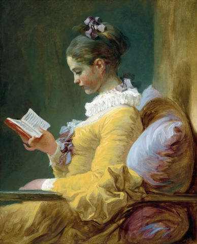 Young Girl Reading - Jean O Fragonard