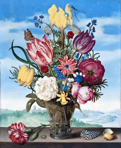 Ambrosius Bosschaert-Bouquet of Flowers