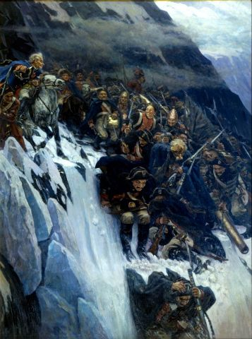Vasily Surikov - Suvorov Crossing Alps