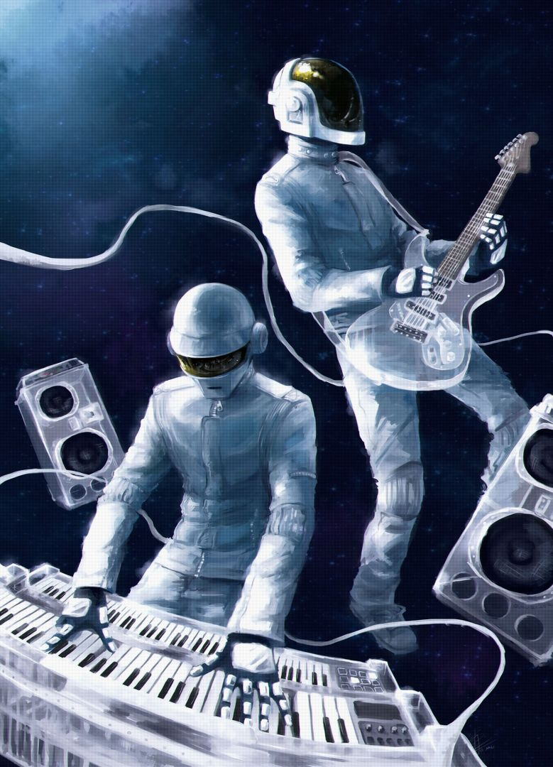 Постер Daft Punk - Space - Дафт Панк - Космос