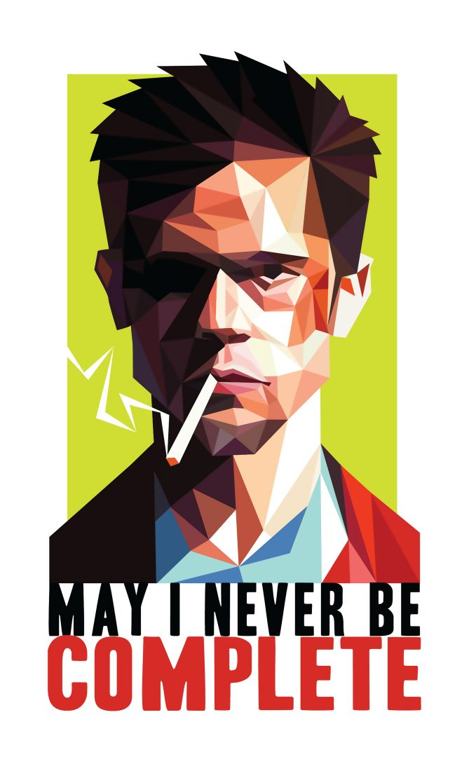 Постер Fight Club - Tyler Durden - Бойцовский Клуб - Тайлер Дерден