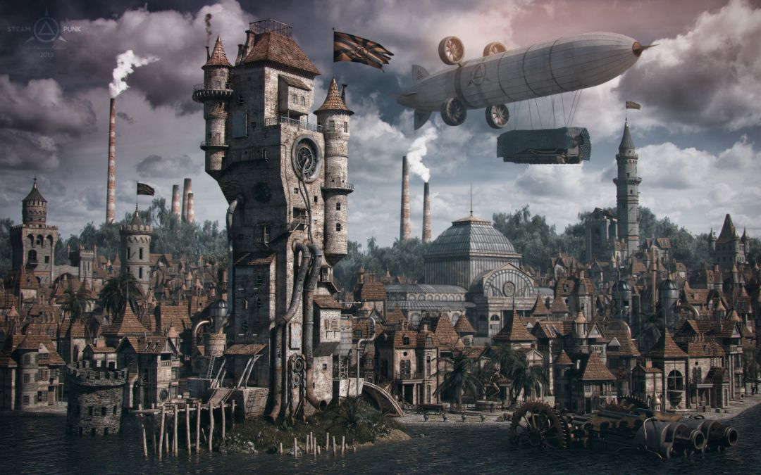 Постер Steampunk City - Стимпанк город