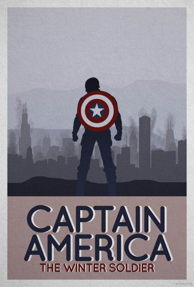 Постер The Avengers - Captain America - Мстители - Капитан Америка