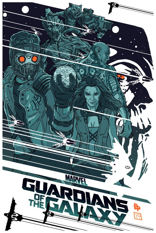 Постер Marvel - Guardians of the Galaxy - Марвел - Стражи Галактики