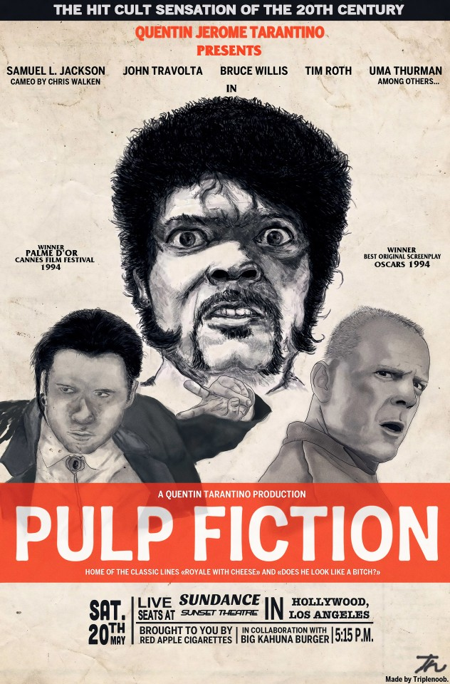 Постер Pulp Fiction - Криминальное Чтиво