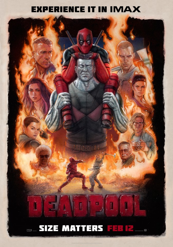 Постер Marvel - Deadpool - Бетман - Дэдпул