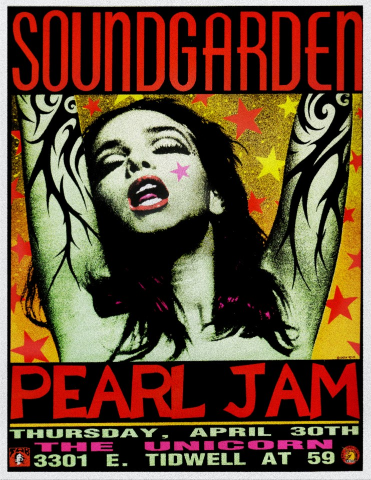 Постер Soundgarden, Pearl Jam - Перл Джем
