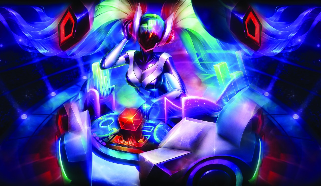Постер League of Legends - DJ Sona - Лига Легенд - ДидЖей Сона