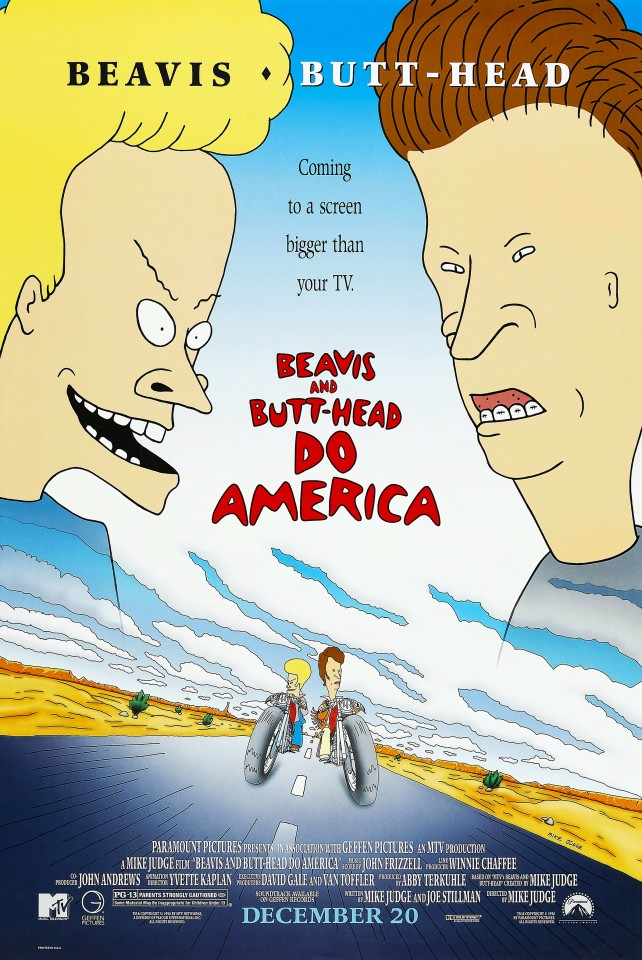Постер Beavis and Butt-head Do America - Бивис и Баттхед уделывают Америку