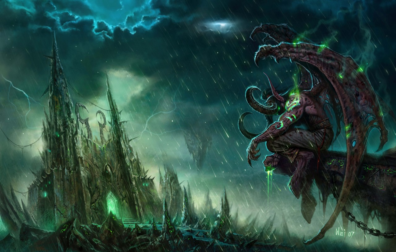 Постер World of Warcraft - Illidan - Ворлд оф Варкрафт - Иллидан