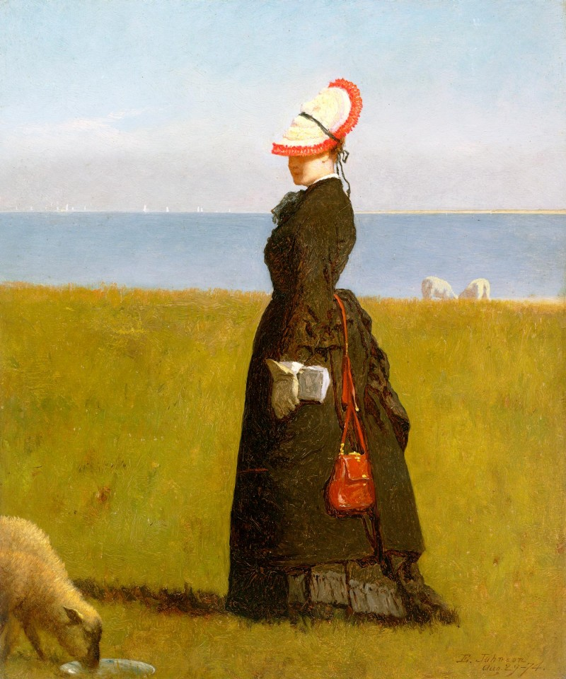"Постер ""Lambs, Nantucket""- Eastman Johnson - ""Ягнята, Нантакет"" - Истман Джонсон"