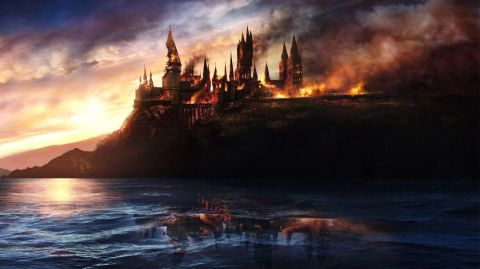 Burning castle