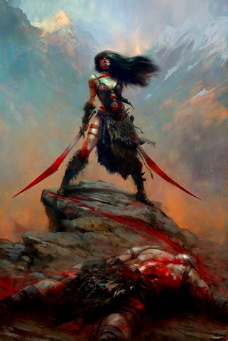 Barbarian Woman - Diablo 3