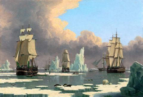 Whalers in the Arctic - John Ward